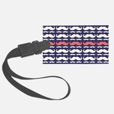 Funny Mustache Pattern Luggage Tag