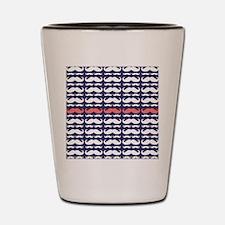 Funny Mustache Pattern Shot Glass