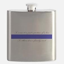 LEO Family Crest Flask