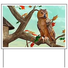 Autumn Owl Yard Sign