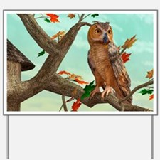 Autumn Owl Yard Sign