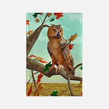 Autumn Owl Magnets