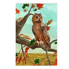 Autumn Owl Postcards (Package of 8)