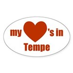 Tempe Oval Sticker