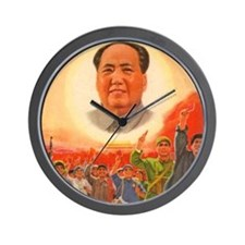 Mao Is The Sun Wall Clock