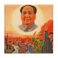 Mao Is The Sun Tile Coaster
