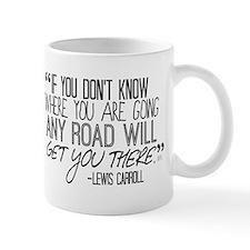 Any Road Lewis Carroll Small Mugs