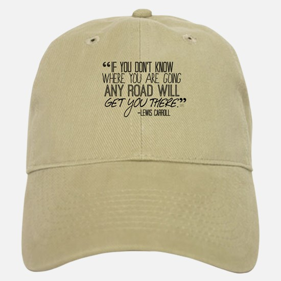 Any Road Lewis Carroll Baseball Baseball Cap