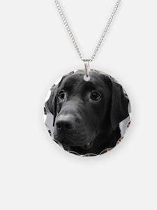 Black and White Labrador Necklace