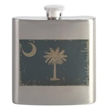 South Carolina State Flag VINTAGE Flask