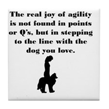 The Joy of Agility Tile Coaster