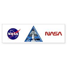 Sp X 3 NASA Bumper Sticker