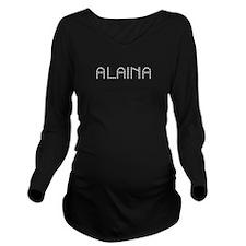 Alaina Gem Design Long Sleeve Maternity T-Shirt