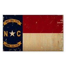 North Carolina State Flag VINTAGE Decal