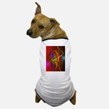 Luminous Brown Digital Abstract Art Dog T-Shirt