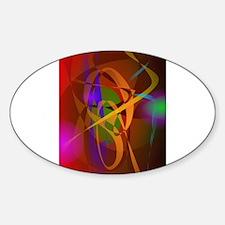 Luminous Brown Digital Abstract Art Decal