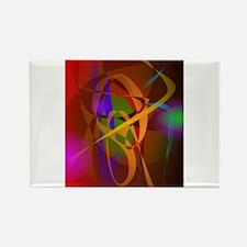 Luminous Brown Digital Abstract Art Magnets