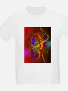 Luminous Brown Digital Abstract Art T-Shirt