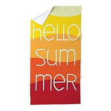 Hello Summer Sunset Beach Towel