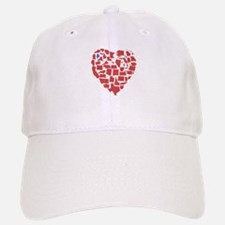 Maine Heart Baseball Baseball Cap