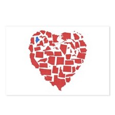 Maine Heart Postcards (Package of 8)