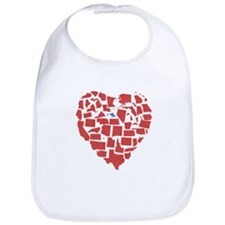 Maryland Heart Bib