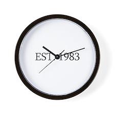 Est 1983 Wall Clock