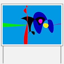 Abstract Expressionism Simple Digital Art Yard Sig