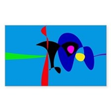 Abstract Expressionism Simple Digital Art Decal