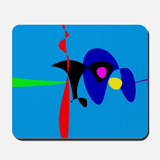 Abstract Expressionism Simple Digital Art Mousepad