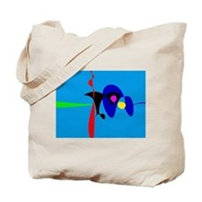 Abstract Expressionism Simple Digital Art Tote Bag
