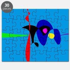 Abstract Expressionism Simple Digital Art Puzzle