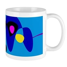 Abstract Expressionism Simple Digital Art Mugs
