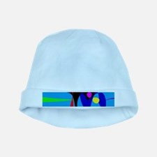 Abstract Expressionism Simple Digital Art baby hat