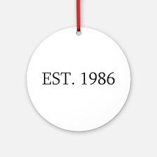 Est 1986 Ornament (Round)