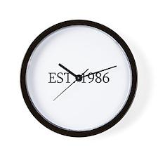 Est 1986 Wall Clock