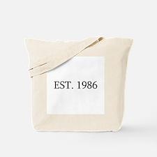 Est 1986 Tote Bag