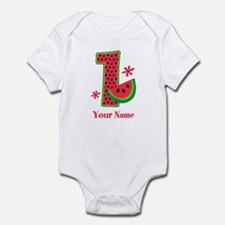 Watermelon 1st Birthday Infant Bodysuit