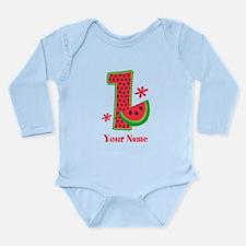 Watermelon 1st Birthda Long Sleeve Infant Bodysuit