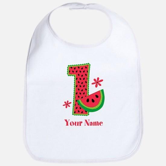 Watermelon 1st Birthday Bib