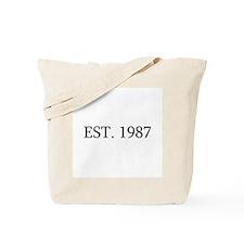 Est 1987 Tote Bag