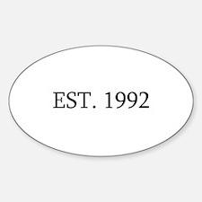 Est 1992 Decal