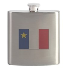 Flag of Acadia Flask