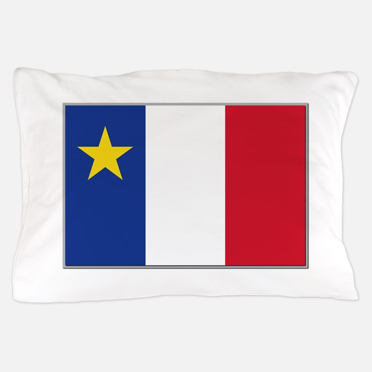Flag of Acadia Pillow Case