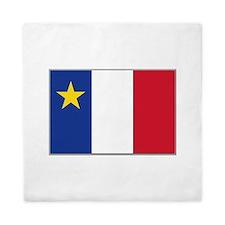 Flag of Acadia Queen Duvet