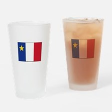 Flag of Acadia Drinking Glass