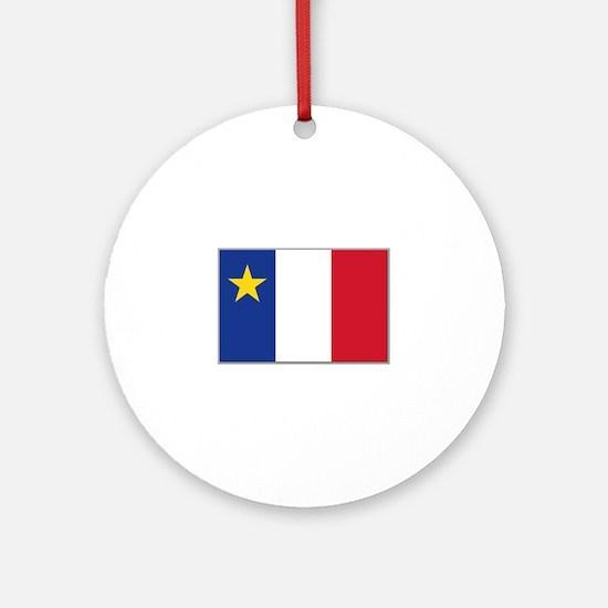 Flag of Acadia Ornament (Round)