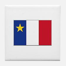 Flag of Acadia Tile Coaster