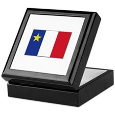 Flag of Acadia Keepsake Box