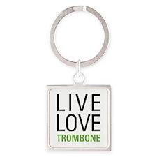 Trombone Square Keychain